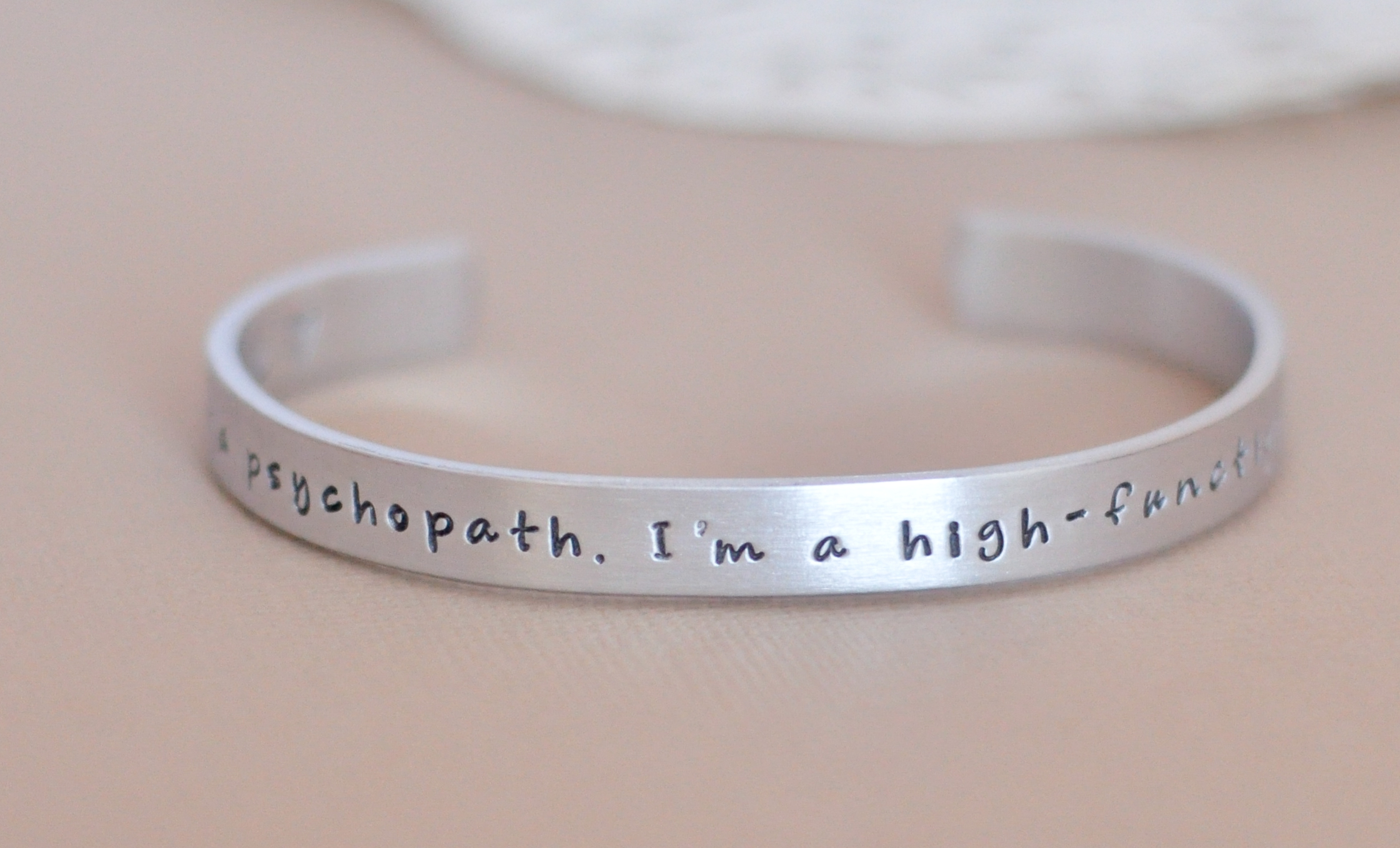 bracelet cut bangle out silver personalized hand bracelets stamped family