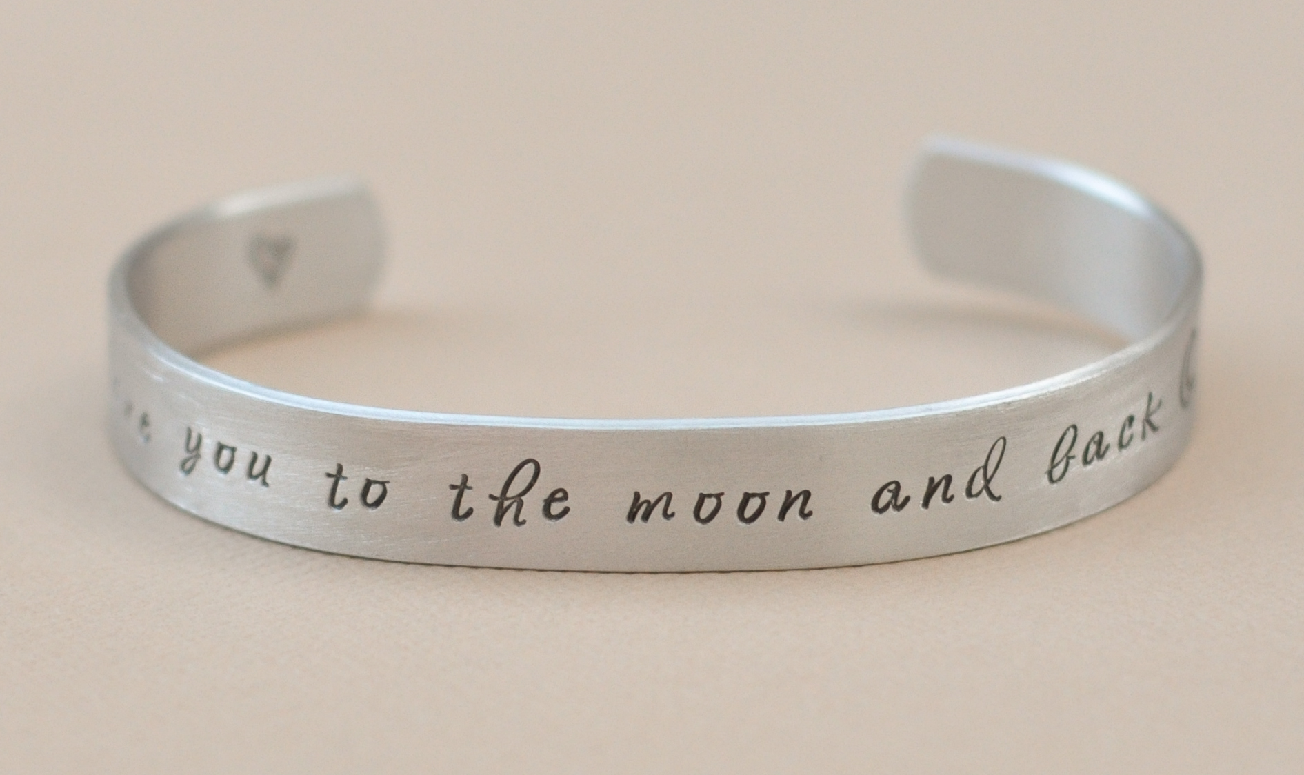 I Love You To The Moon And Back Bracelet Outside
